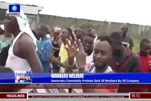 Aseomuku Protesters Demand Recall Of Sacked Workers By Oil Company
