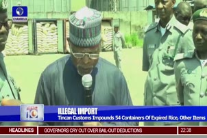 Tincan Customs Impounds 54 Containers Of Expired Rice