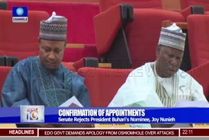 Senate Rejects President Buhari's Nominee, Joy Nunieh