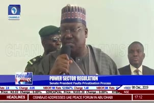 Senate President Faults Privatisation Process Of Power Sector
