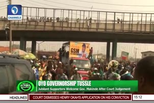 Jubilant Supporters Welcome Gov Makinde After Court Judgement