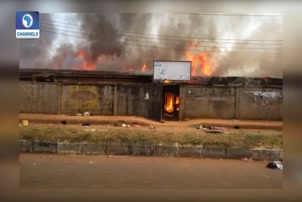 Fire Engulfs Ekiosa Market, Edo Development Agency Building