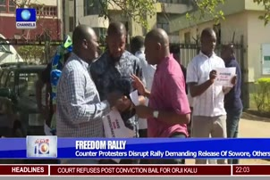 Counter Protesters Disrupt Demanding Release Of Sowore, Others