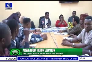 INEC Meets Political Parties Ahead Of Jan 25th Poll