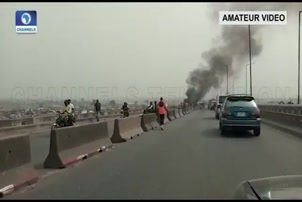 Gridlock As Vehicle Burns On Kara Bridge
