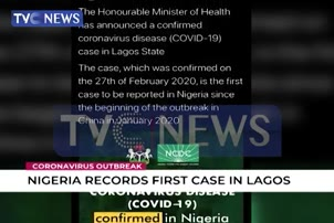 Nigeria Records First Coronavirus Case In Lagos