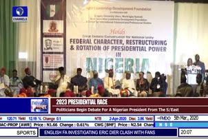 Politicians Begin Debate For A Nigerian President From The S/East