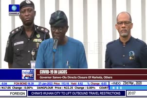 Governor Sanwo Olu Directs Closure Of Markets, Others
