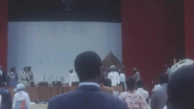 Lt  Gen. Olusegun Obasanjo Opens Nigeria's National Theatre - September 1976