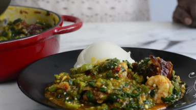 Okro Soup With Spinach