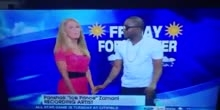 Ice Prince doing Weather forecast on Uk Channel