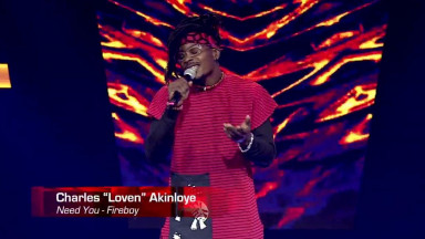 Charles Loven Akinloye sings Need You - Blind Auditions - The Voice Nigeria Season 3