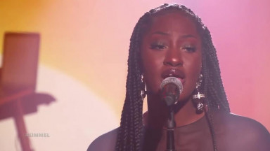 Tems Performs 'Avoid Things' off New EP on Jimmy Kimmel Live