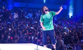 Jcole perform Photography in Lagos Nigeria at the Castle lite unlock
