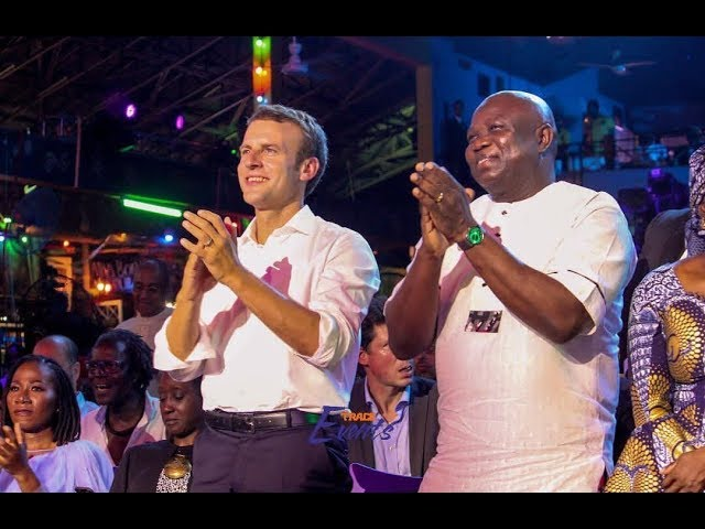 France President Emmanuel Macron in Nigeria Afrika Shrine, Dance to Wizkid Soco & Davido Song