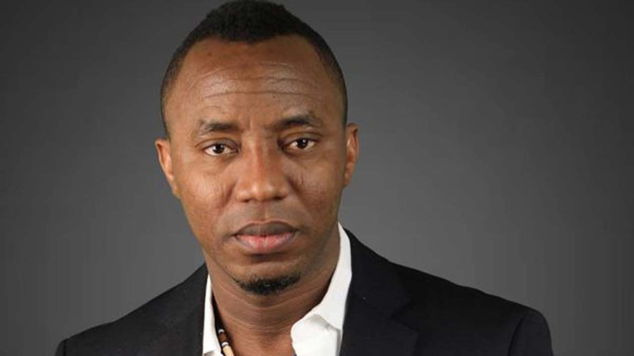 Sowore enslaved Himself, Chain Is Neck In Slaves Museum Badagry