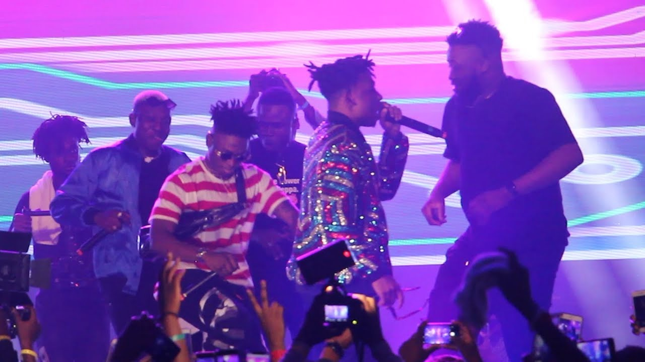 "Lilkesh, Zlatan, Chinko Ekun Perform ""Able God"" At The Moyor Of Lagos Concert"