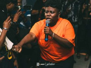 Teni Cries On Stage During  Uyo Meyo  Performance